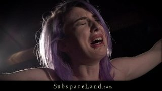 Purple-hair-slave-rough-spanked-and-dominated-in-hardcore-fetish