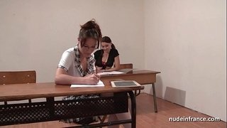 French-students-hard-ass-fucked-and-fisted-in-FFM-threesome-in-classroom