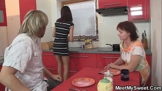 Dinner-leads-to-family-threesome
