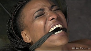 Flexible-Ebony-Pain-Slut-In-Lezdom-Bondage