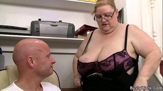 He-doggystyles-huge-titted-secretary-on-the-stairs