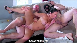 Busty-Housewife-Gets-Fucked-and-DPed-by-Husband's-Brothers-in-Amateur-Threesome