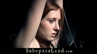 Redhead-bitch-bound-with-tape-and-vibe-masturbated