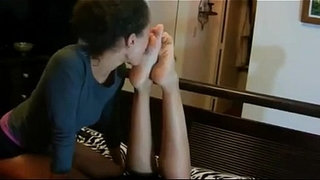 352-My-Friend-Licks-My-Feet-While-I-Relax-In-Bed