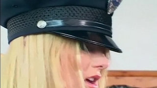 Pretty-female-cop-fucking-in-gloves-and-stockings