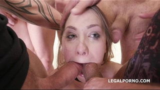 7on1-Double-Anal-GangBang-Selvaggia,-Sperma-Party-with-7-swallows