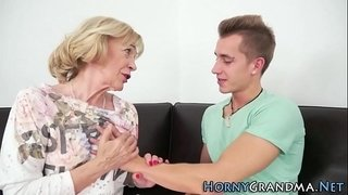 Granny-takes-cum-mouthful