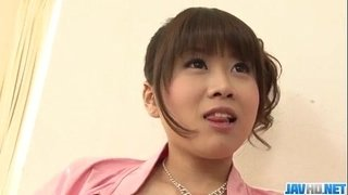 Ririka-Suzuki-needy-milf-kneels-in-front-of-a-big-cock
