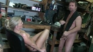 Smoking-hot-MILF-on-heels-riding-loaded-dick-on-a-chair-at-work