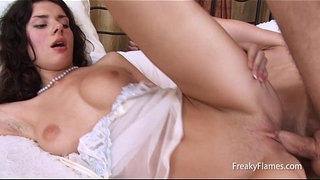 Big-cock-fuck-for-Very-cute-petite-brunette-with-great-natural-tits