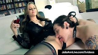 FemDom-Milf-Julia-Ann-Orders-Leashed-Boy-Toy-To-Eat-Her-Out!
