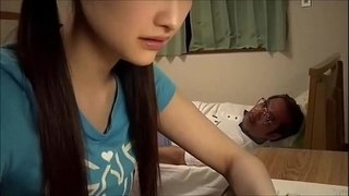 Japanese-school-girl-blows-old-teacher