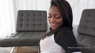 Sex-tape-with-hot-ebony-gf-on-big-dildo-and-cock