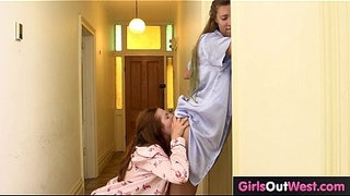 Hairy-lesbian-housemates-fuck-in-the-morning