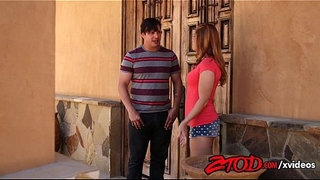 Redhead-teen-is-going-to-suck-her-best-friends-dads-dick