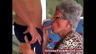 Granny-Eve-sucking-hard-young-dick